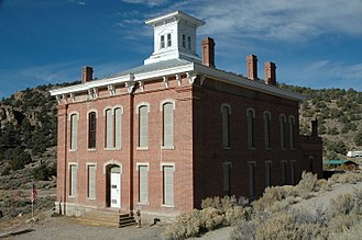 Belmont, Nevada - Belmont courthouse, closed for renovation, October 2009