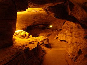 Kurnool district - Interior view of Belum Caves