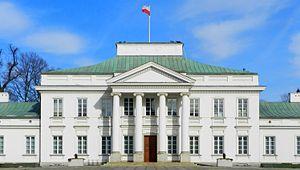 Belweder - Belweder Palace (view from ulica Belwederska).