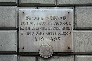 Français : plaque commémorant Benjamin Godard,...