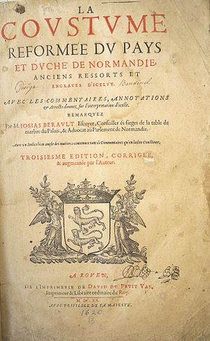 Law of Jersey - Berault's 1620 commentary