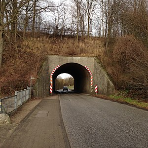 Hagenow Land–Bad Oldesloe railway - Railway bridge in Berkenthin
