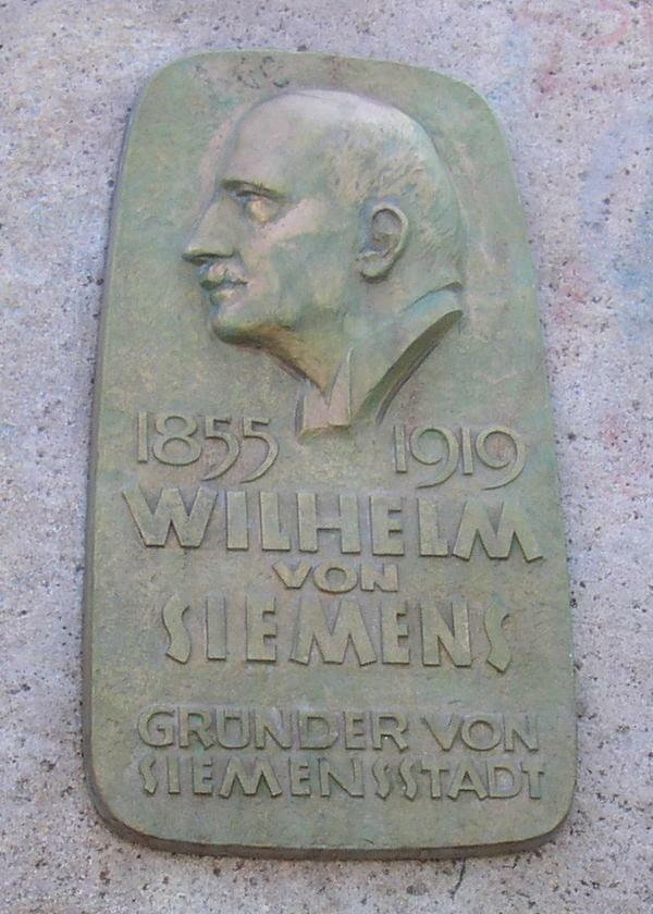 Berlin W Siemens plaque