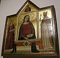 Bernardo daddi, madonna fra santa caterina da'lessandria, san zanobi e tre donatori, 1335.JPG