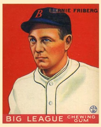 Bernie Friberg - Bernie Friberg 1933 Goudey baseball card.