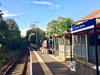 Berry Brow railway station Railway station in West Yorkshire, England