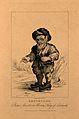 Bertholde, a dwarf. Engraving by R. Page, 1821. Wellcome V0006984ER.jpg