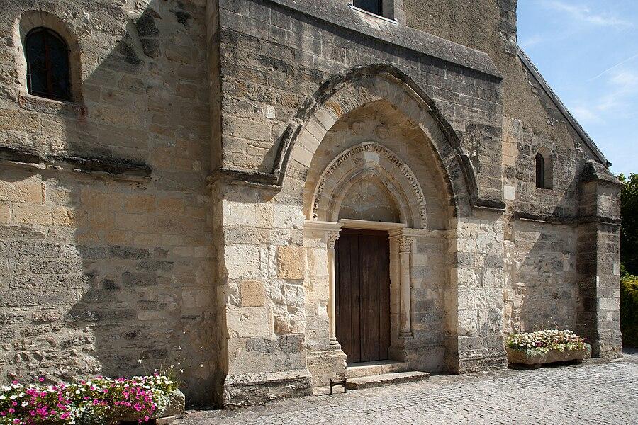 Bezannes church, France.