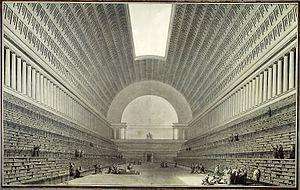 Étienne-Louis Boullée - Boullée, Deuxieme projet pour la  Bibliothèque du Roi (1785)