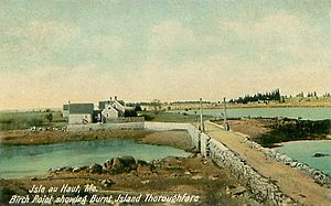 Isle au Haut, Maine - Birch Point and Burnt Island Thoroughfare c. 1908