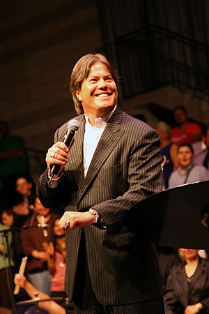 Destiny Church (New Zealand) - Brian Tamaki at a church conference in Auckland (22 October 2006)