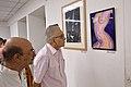 Biswatosh Sengupta and Shyamal Kumar Sen Visiting 43rd PAD Group Exhibition - Kolkata 2017-06-20 0391.JPG