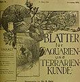 Blätter für Aquarien- und Terrarien-Kunde (1905) (20393463791).jpg