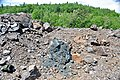 Black smoker rocks (sulfidic wad) (Helen Iron-Formation, Neoarchean, 2696-2749 Ma; Sir James Pit, Eleanor Iron Range, Ontario, Canada) 4 (48069867321).jpg