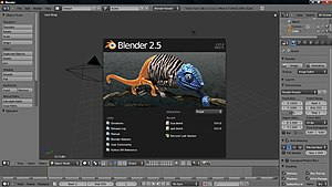 Blender (software) - Blender's user interface underwent a significant update during the 2.5x series