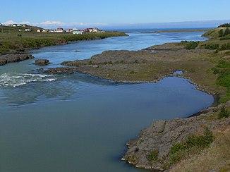 Blanda an der Mündung mit Ort Blönduós