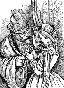 Blue Beard in Tales of Mother Goose (Welsh).png