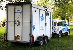 Blue Cross (animal charity) - Blue Cross horse ambulance at Badminton 2015