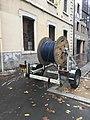 Bobine de cables - Boulevard Deruelle à Lyon.JPG