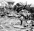 Body in the ruins, Galveston hurricane, 1900.jpg