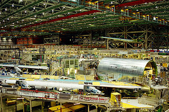 747 final assembly at the Boeing Everett Factory Boeing Factory 2002.jpg