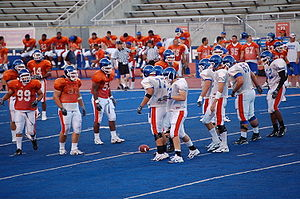Boise State Broncos football - A Boise State scrimmage at Bronco Stadium in 2006
