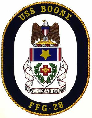USS Boone - Image: Boone Crest