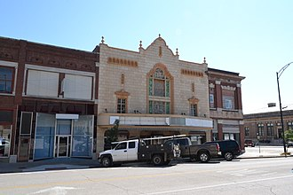 National Register of Historic Places listings in Montgomery County, Kansas - Image: Booth Theater, Independence, KS