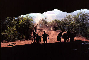Border Cave - View over Swaziland from mouth of Border Cave