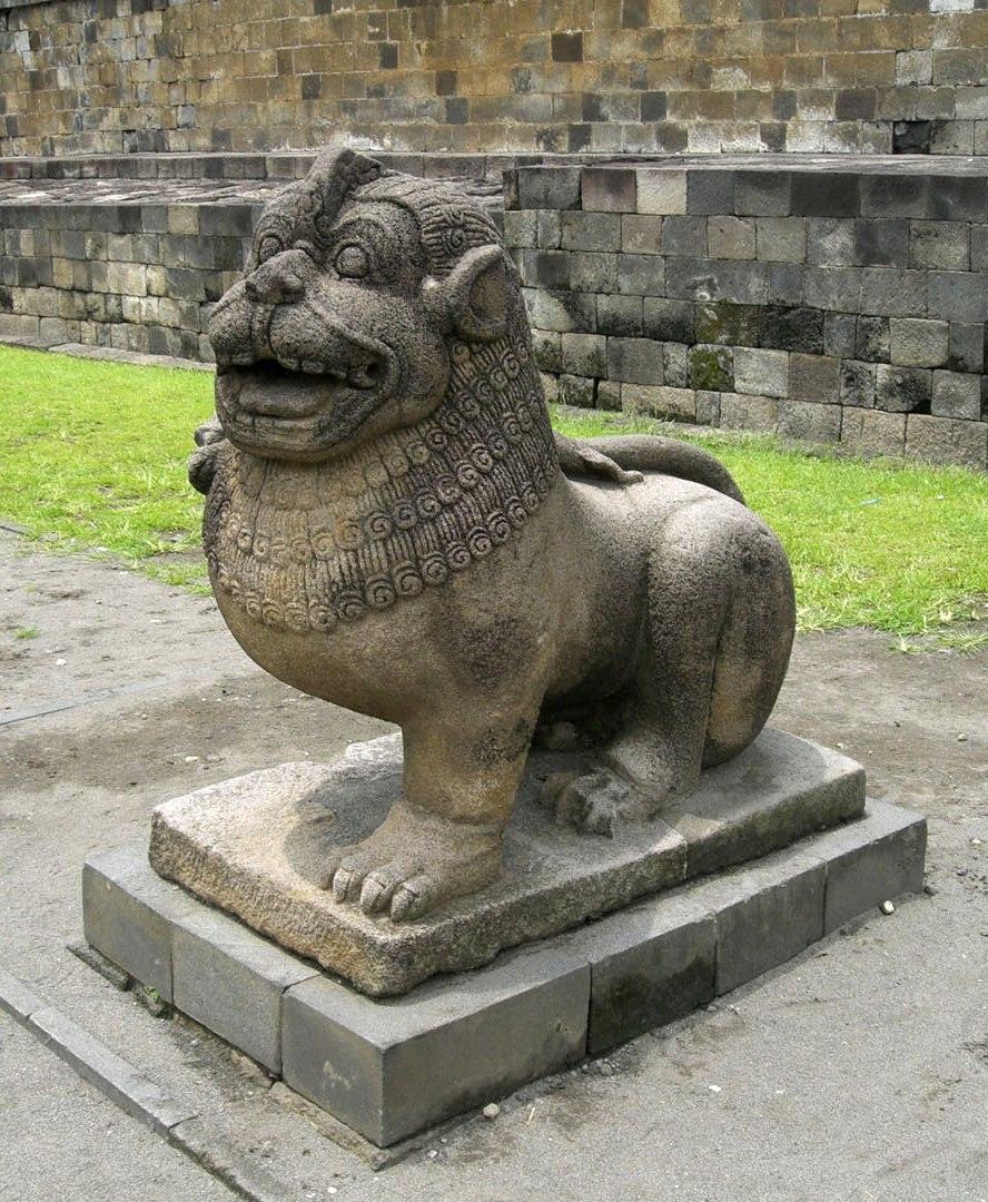 Borobudur Lion Guardian