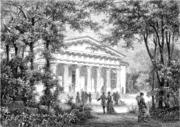 The Uppsala Botanical Garden, from an 1874 engraving