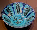 Bowl, Iran, early 13th century AD, frit body, underglaze black and blue, turquoise glaze - Montreal Museum of Fine Arts - Montreal, Canada - DSC09693.jpg