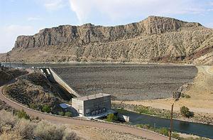 Boysen Dam - Image: Boysen Dam in 2012