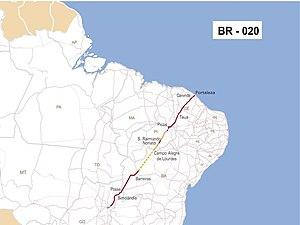 BR-020 - Image: Br 020mapa