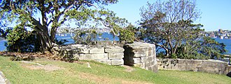 Bradleys Head Fortification Complex - Gun emplacement overlooking Port Jackson