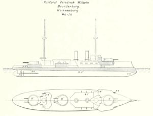 SMS Weissenburg - Image: Brandenburg Brassey's