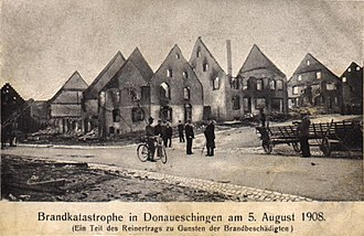 Donaueschingen - Destruction after the August 1908 fire