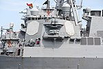 Bridge of USS Curtis Wilbur (DDG-54) left side view at U.S. Fleet Activities Yokosuka April 30, 2018.jpg