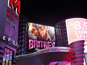 Britney: Piece of Me - The AXIS, the venue of the residency show, is located at the Planet Hollywood Resort & Casino (pictured).