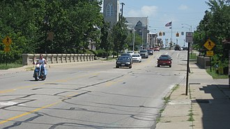 National Register of Historic Places listings in Darke County, Ohio - Image: Broadway Bridge in Greenville