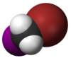 Spacefill model of bromoiodomethane