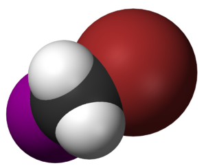 Bromoiodomethane - Image: Bromoiodomethane 3D vd W