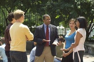 Brooklyn Law School - Brooklyn Law School students with Prof. Dean outside the main building