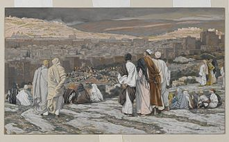 Brooklyn Museum - James Tissot, The Disciples Having Left Their Hiding Place Watch from Afar in Agony, c. 1886-1894
