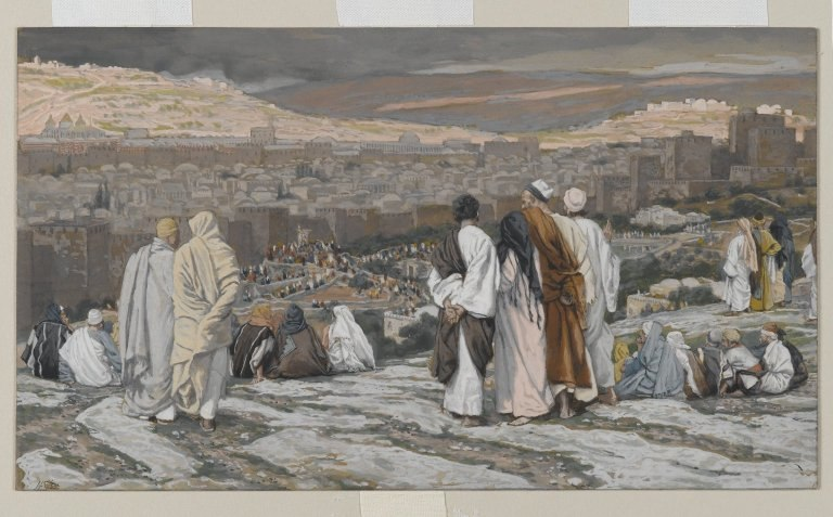 Brooklyn Museum - The Disciples Having Left Their Hiding Place Watch from Afar in Agony - James Tissot