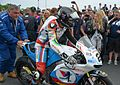 Bruce Anstey prepares to start 2016 Snior TT.jpg