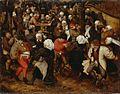 Brueghel, Pieter (II) of Jan (I) - Boerenbruiloft in openlucht.jpg