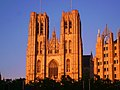 Brussels - Cathedral under red sunset - panoramio.jpg