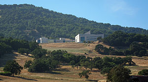 Buck Institute for Research on Aging - The campus of the Buck Institute, as seen from Highway 101.