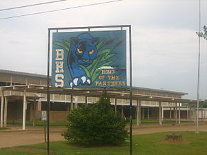 Buckeye High School (Louisiana) - Exterior of Buckeye High School in Deville, Louisiana